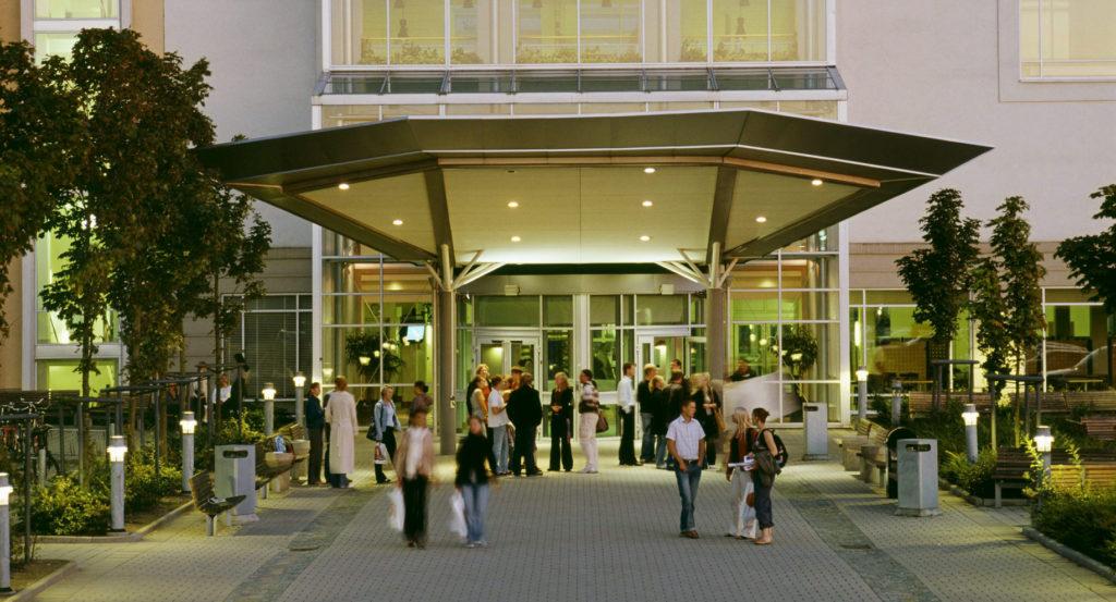 campus helsingborg på kvällen