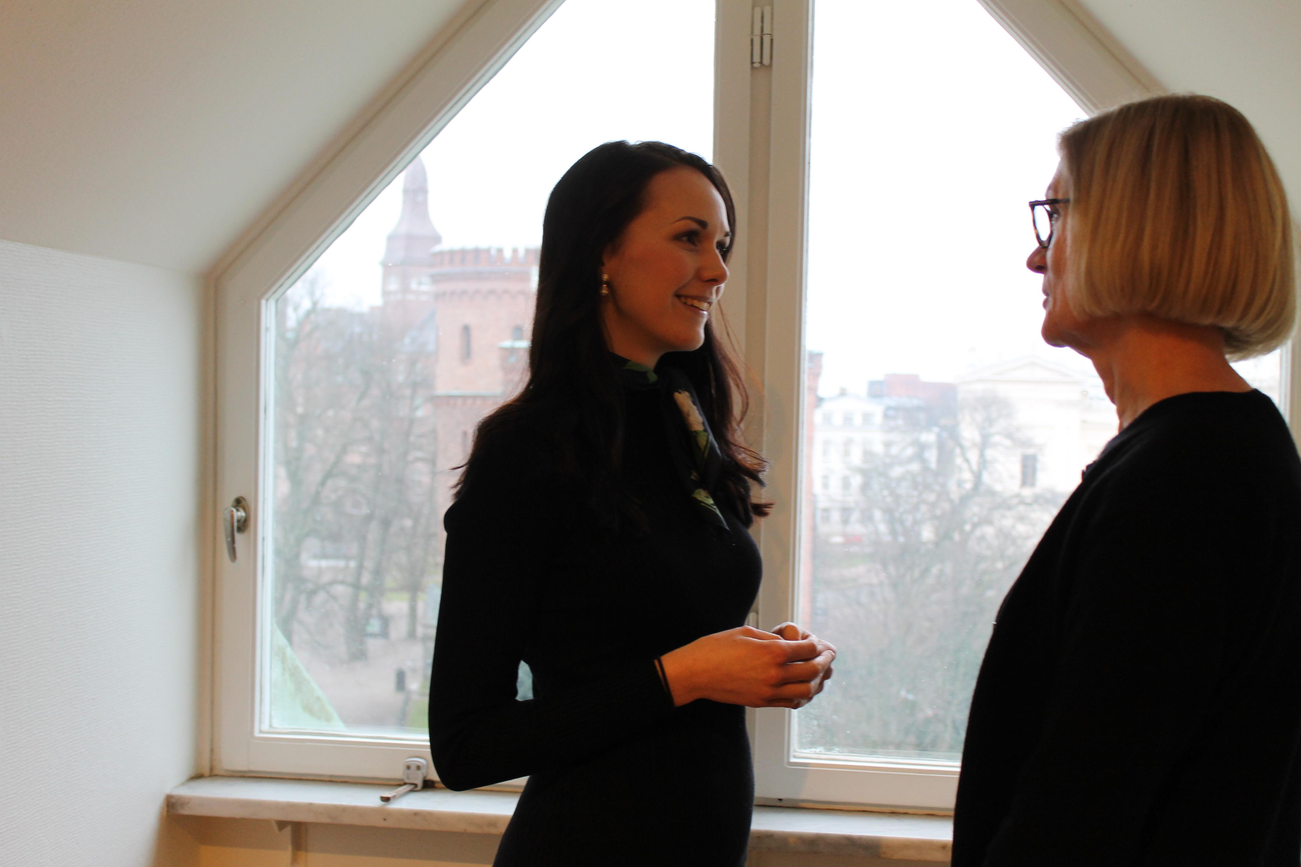 Kristina och Sofie Omvänt mentorskap